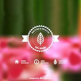 Natureza e saúde badge
