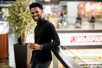 Negócio africano americano feliz