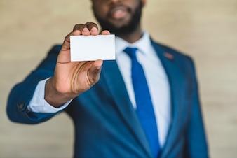 Negócio, homem, cartão