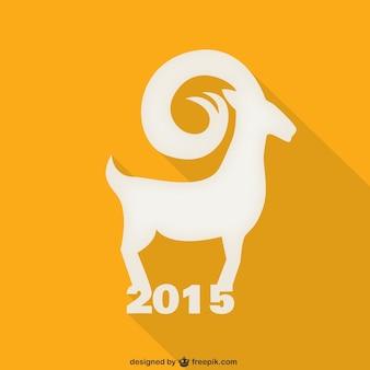 Ano Novo silhueta cabra