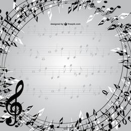 Notas musicais vector frame