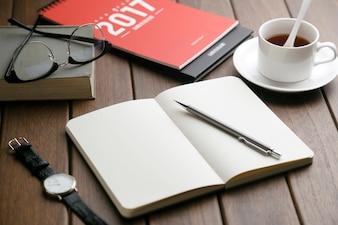 Notebook desktop soho café