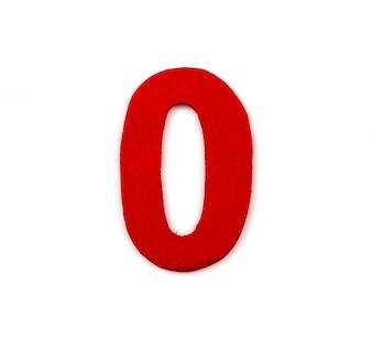 Número vermelho de zero