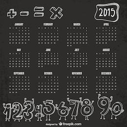 Números engraçados 2015 calendário