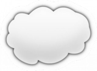 nuvem de desenhos animados