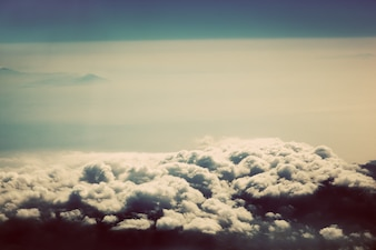 Nuvens, visto de cima