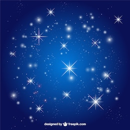 O céu stars vector background