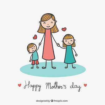O desenho bonito para o dia das mães