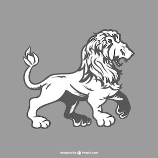 O desenho do leão do vetor