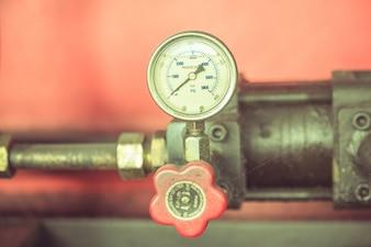 O local, o tubo, de uma máquina antiga