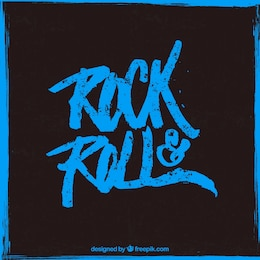 O rock and roll poster