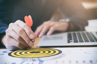 Objectivos de meta de sucesso estratégico de estratégia de negócios.