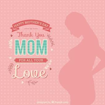 Obrigado cartão da mamã