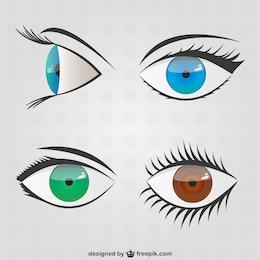 Olhos rabiscos embalar