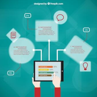 Template infografia educação on-line