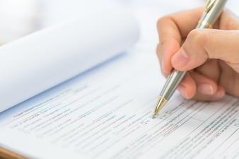 Opção de comparação exame negócios forma