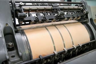 Operação de automação de fábrica de impressão tecnologia