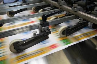 Operação de automação de fábrica tecnologia de impressão
