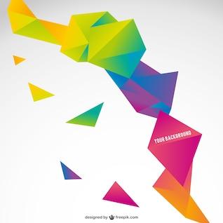 Origami modelo abstrato colorido