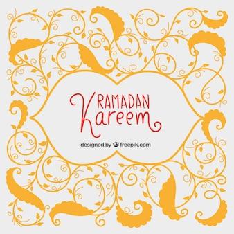 Ornamental Ramadan Kareem fundo