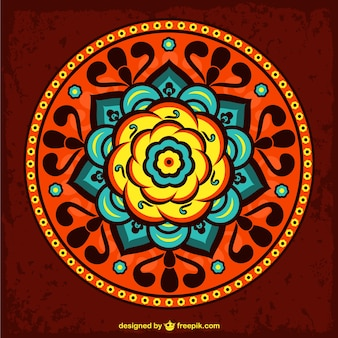 Ornamento bonito da flor do vetor