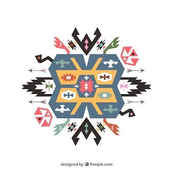 Ornamento étnico geométrico