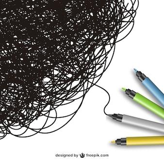 Os marcadores coloridos vector