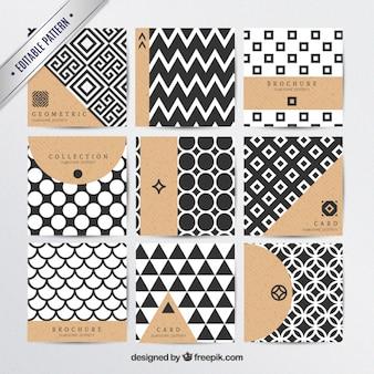 Os padrões geométricos em estilo moderno