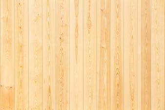 Os painéis de madeira no fim acima