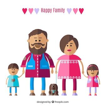 Os pais com crianças