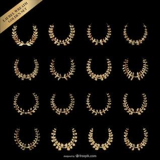 ouro vector coroa de louros