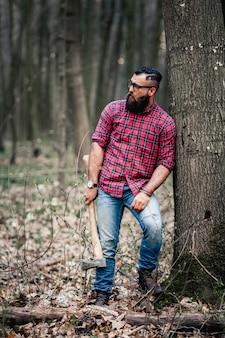 Outono ao ar livre moda retrato madeira