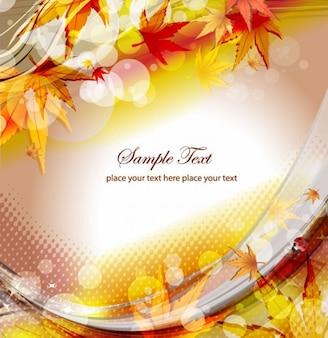 Outono ilustração vetorial floral fundo