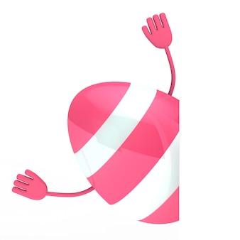 Ovo rosa com braços
