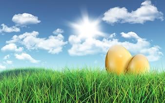 Ovos de ouro no prado