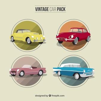 Pacote de carro vintage