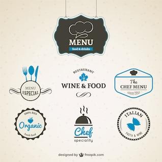 Pacote de emblemas restaurante