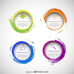 Pacote de modelos circulares