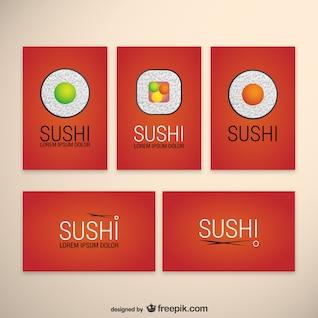 Pacote de modelos de sushi