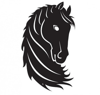 Pacote de vetor cavalo preto orgulhoso