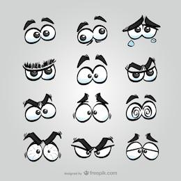 Pacote olhos quadrinhos