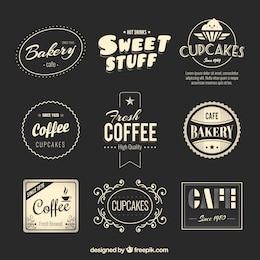 Padaria e café emblemas