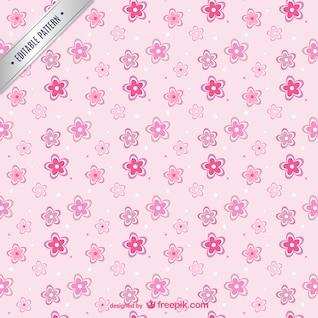 Padrão de flores cor de rosa