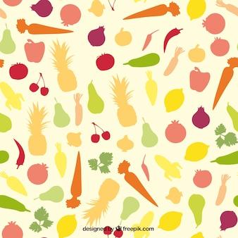 Padrão de Frutas coloridas