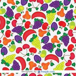 Padrão de frutas sem emenda do vetor