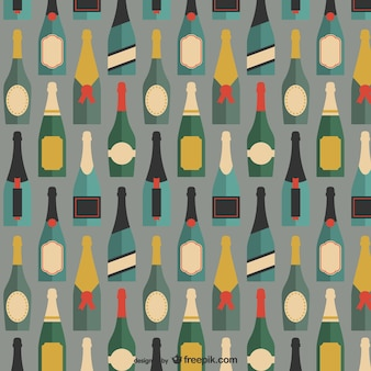 Padrão de garrafas de champanhe