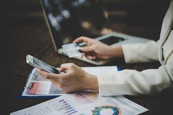 Pagamento cliente comércio estilo de vida laptop