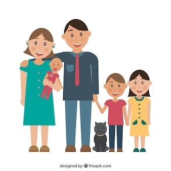Pai, mãe e filhos