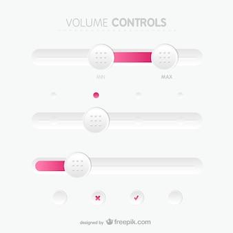 Painel de controle botões de volume