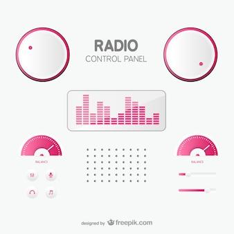 Painel de controle de rádio